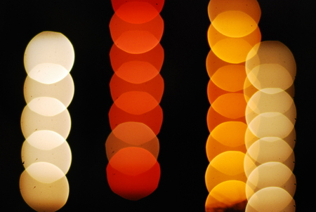 many colour bokeh white red orange onblack background