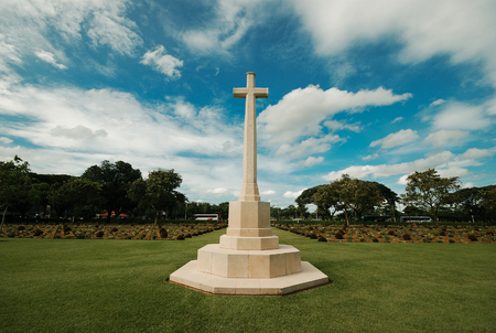 the graveyard of world war two in kanchanaburi thailand is war cemetery Editorial