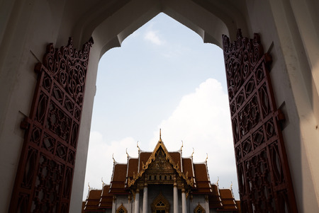 Temple and pagoda in Bangkok of Thailand so beautiful architecture in asia