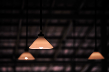 old vintage retro lamp hang on ceiling is the modern design for home