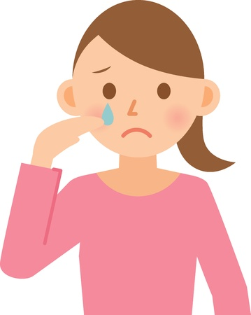 cry icon: woman Illustration