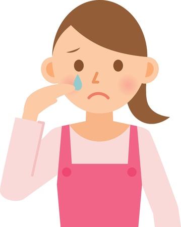 fille triste: femme