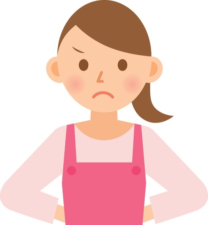 frustrated: woman Illustration