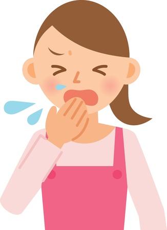 estornudo: mujer