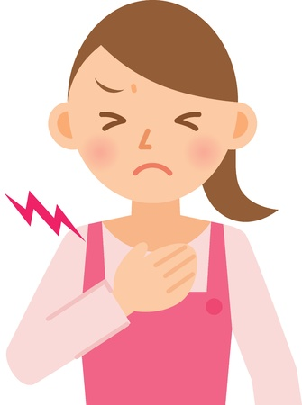 chest pain: woman Illustration