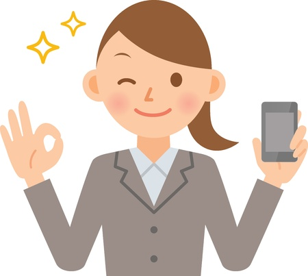 business woman tablet: woman Illustration