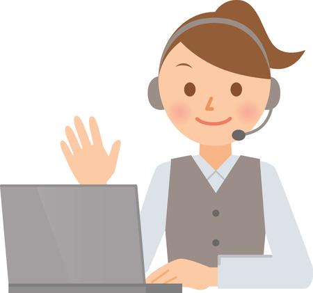 call center female: operator