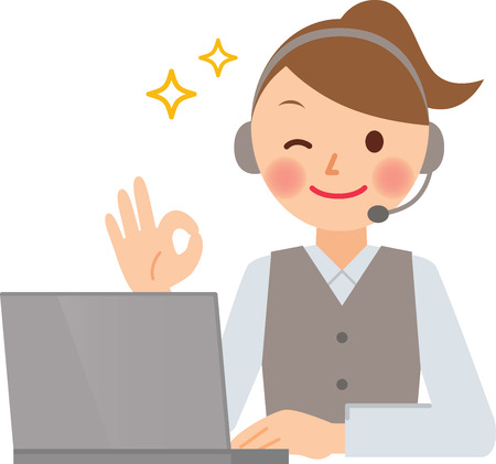 call center female: operator