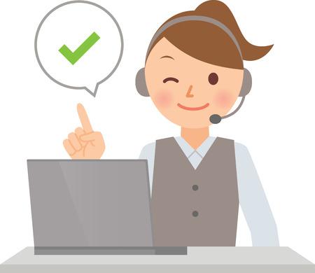 call center woman: operador Vectores