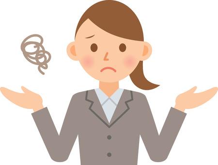 slump: businesswoman looking frustrated