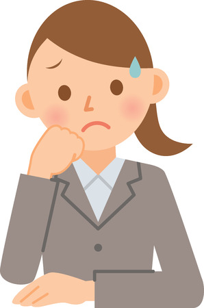 businesswoman looking sad Vector