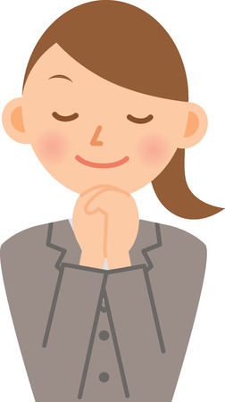 businesswoman praying Vector