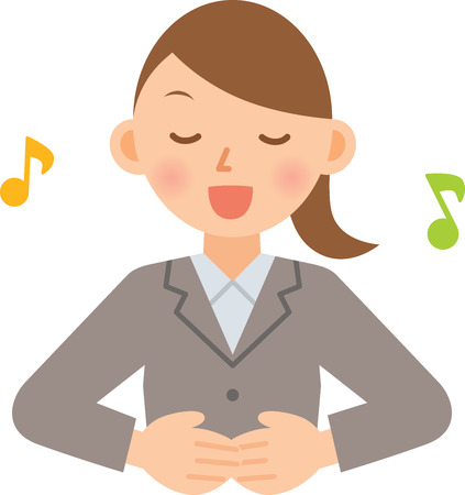 zakenvrouw zingen