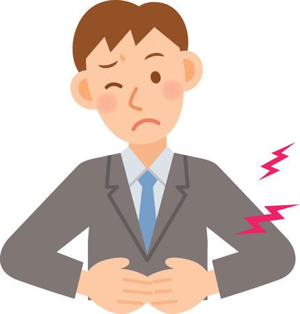 constipation: A vector illustration of businessman Illustration