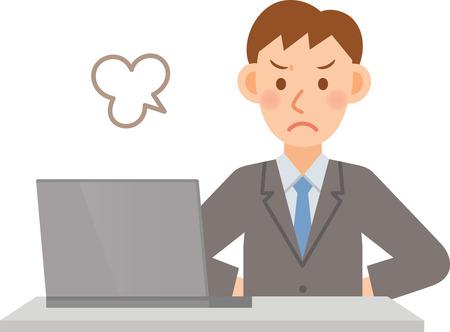 Ilustración del hombre de negocios