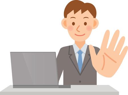 internet business: Illustration of businessman