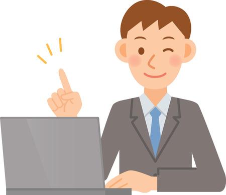 introducing: Ilustraci�n del hombre de negocios Vectores