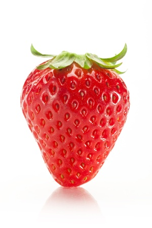 strawberry and white back, macro