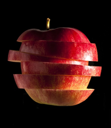 sliced an apple photo