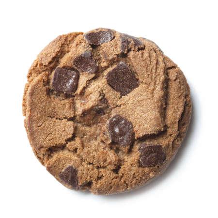 ホワイト ボードにチョコレート チップ クッキー 写真素材