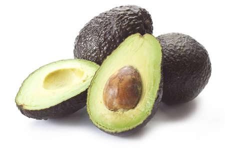 avocado on the white board Stock Photo