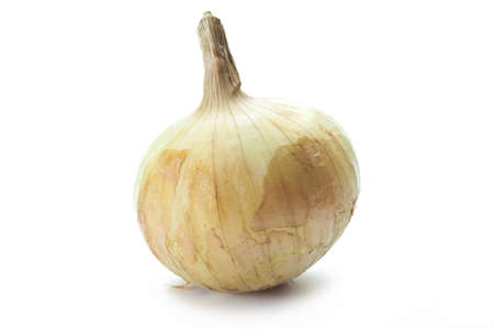 onion on the white board  Stock Photo