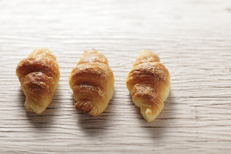 croissant on the wood table Stock Photo