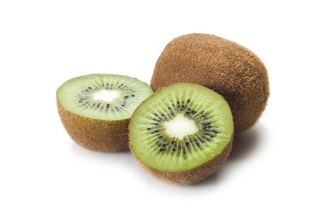 kiwifruits on the white background Stock Photo