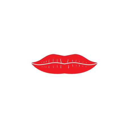 lip graphic design template vector isolated Illustration