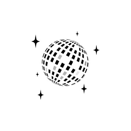 Disco ball vector icon illustration design template Vector Illustration