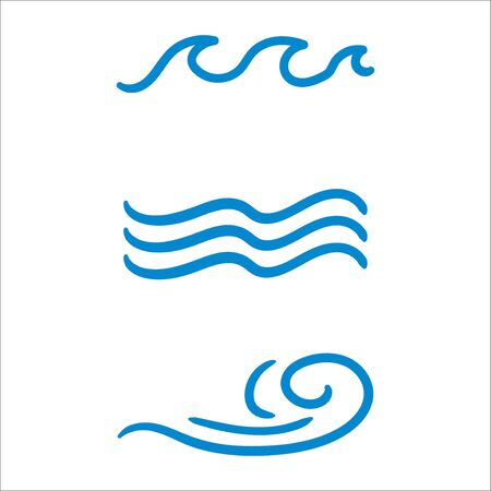 water wave vector icon illustration isolated