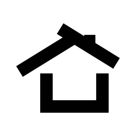 house vector graphic design illustration template