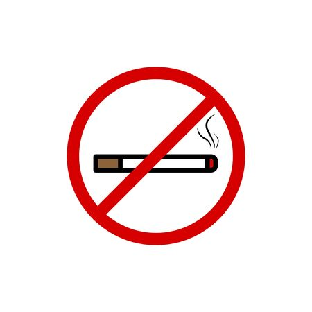 No Smoking vector graphic design illustration