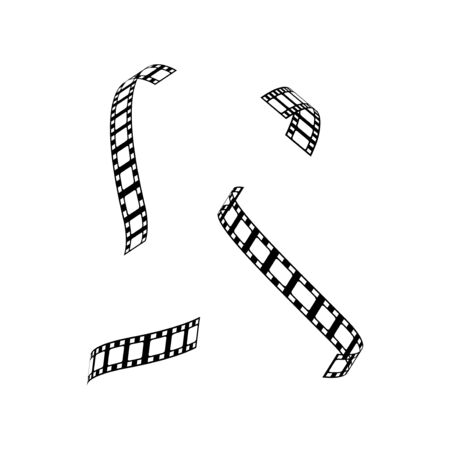 film strip vector graphic design illustration template Illustration