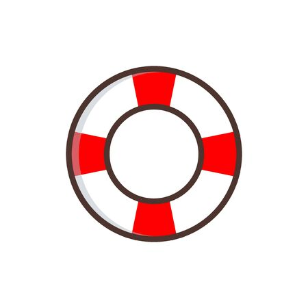 Life buoy vector graphic design illustration