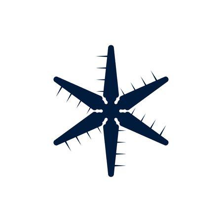 Windmill vector graphic design illustration