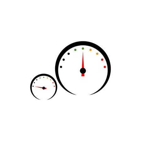 Speedometer vector design template illustration