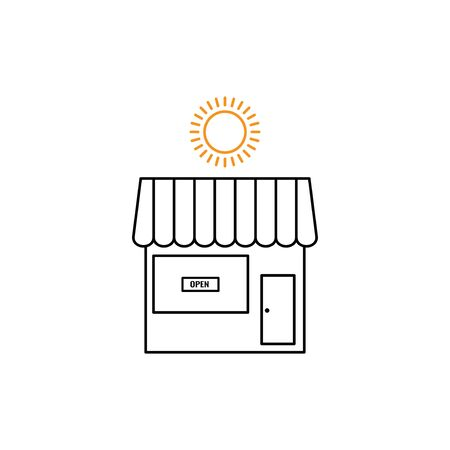 store open vector design template illustration