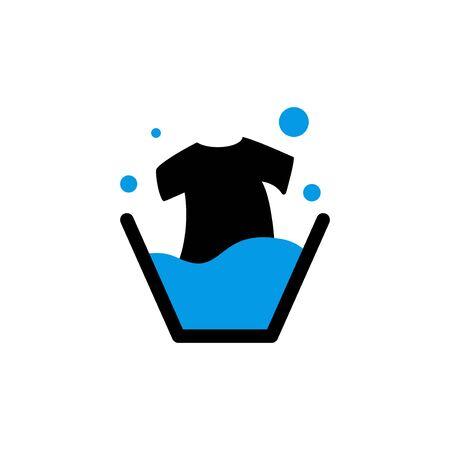 laundry tshirt vector design template illustration Illustration