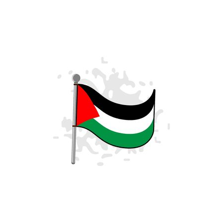 Palestinian flag vector design template illustration