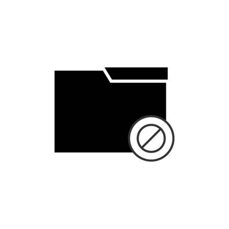 no folder vector design template illustration Stock Illustratie