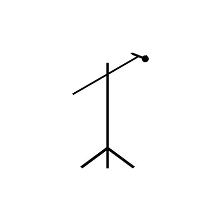 microphone with stand vector design template illustration