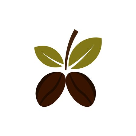 coffee beans plant vector design template illustration