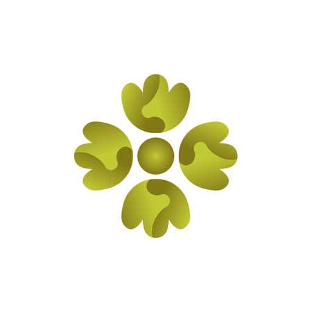 clover colorful vector design template illustration Ilustração