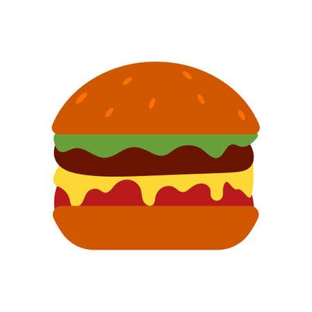 burger vector design template illustration