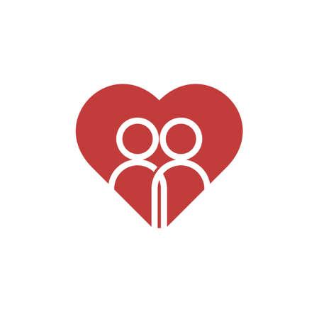 Friend vector icon logo design template illustration