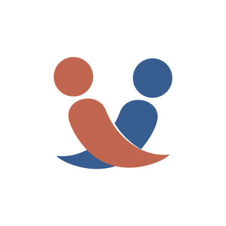 Friend vector icon logo design template illustration Illustration