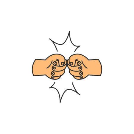 greetings friendship vector icon logo design template illustration