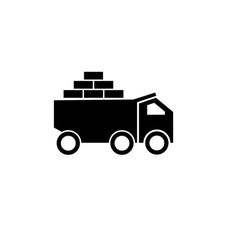 brick truck vector design template illustration