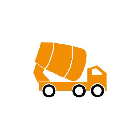 concrete mixer truck vector design template illustration